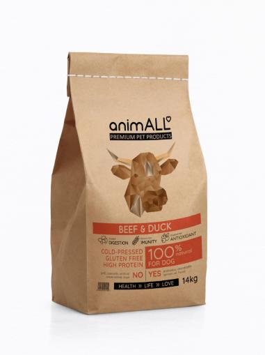 animALL Beef & Duck 14 kg