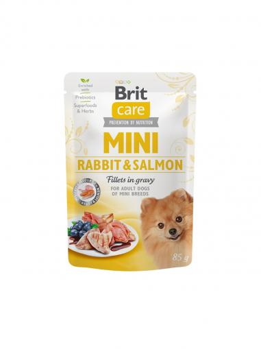 Brit Care Mini Rabbit & Salmon Fillets in Gravy 85 g