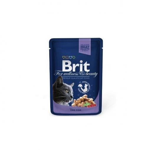Brit Premium Cat Pouch with Cod Fish 100 g