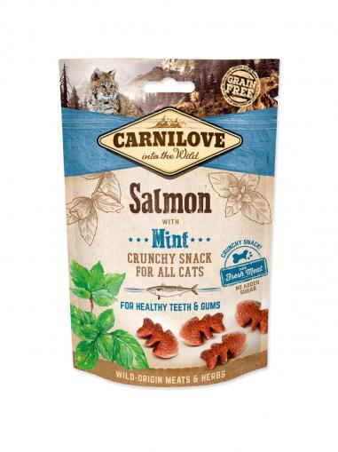 Carnilove Cat Crunchy Snack Salmon with Mint 50 g