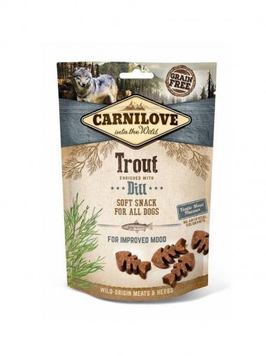 Carnilove Dog Semi Moist Snack Trout enriched with Dill 200 g