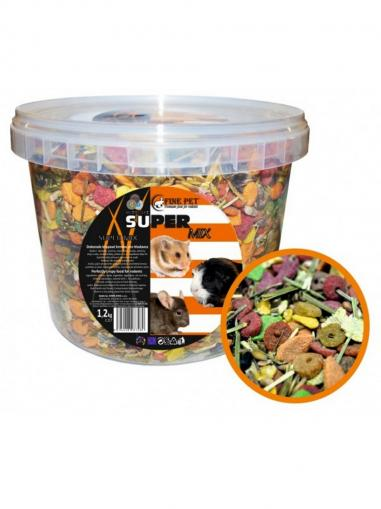 Fine Pet Super Mix Hlodavec 1,2 kg vědro