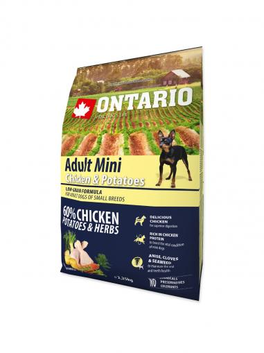 Ontario Adult Mini Chicken & Potatoes & Herbs 2,25 kg