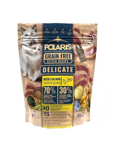 Polaris Cat Grain Free Kitten Delicate kachna, losos 750 g