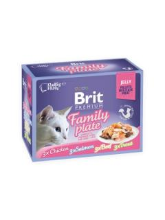 Brit Premium Cat Delicate Fillets in Jelly Family Plate 12x85 g