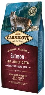 Carnilove Salmon for Adult Cats Sensitive & Long Hair 400 g