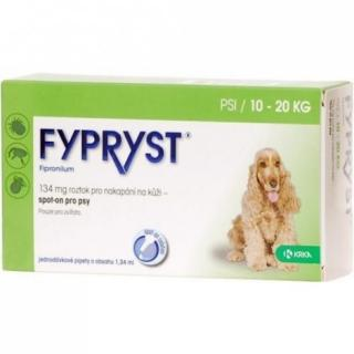 Fypryst spot on dog M 10-20 kg sol 1x1.34 ml - 9900375